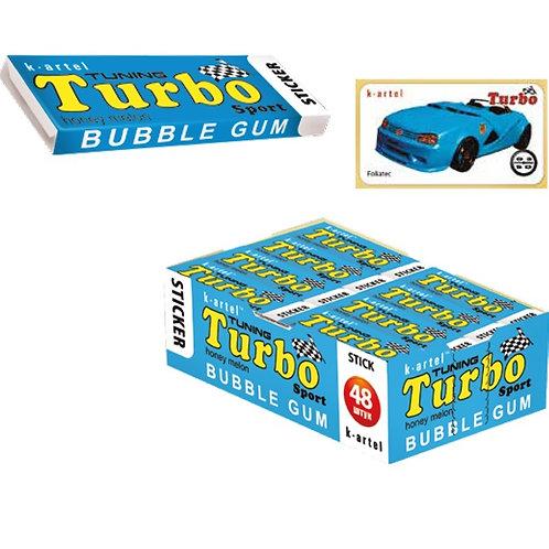 «TURBO» Резинка жевательная недражированная со вкусом дыни с наклейкой