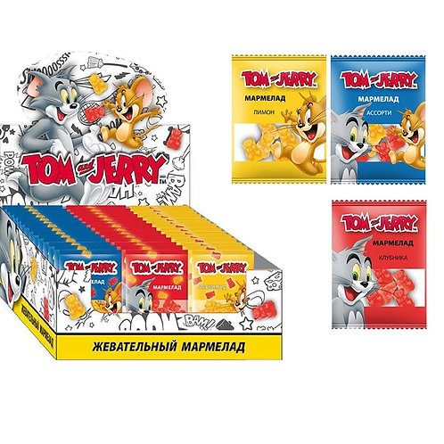 Tom and Jerry мармелад жевательный Микс вкусов