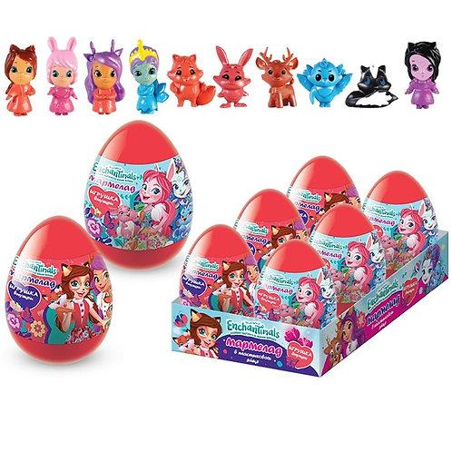 ENCHANTIMALS Мармелад в пластиковом яйце с игрушкой