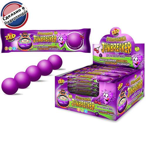 Фруктовый микс многослойная конфета с надувной резинкой JAWBREAKER Зубодробилка