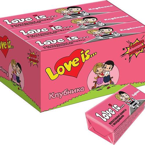 LOVE IS жевательные конфеты со вкусом Клубники