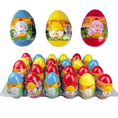 """""""БУМ!БЕРРИ!"""". Драже из прессованного сахара с мини игрушкой в пластиковом яйце"""