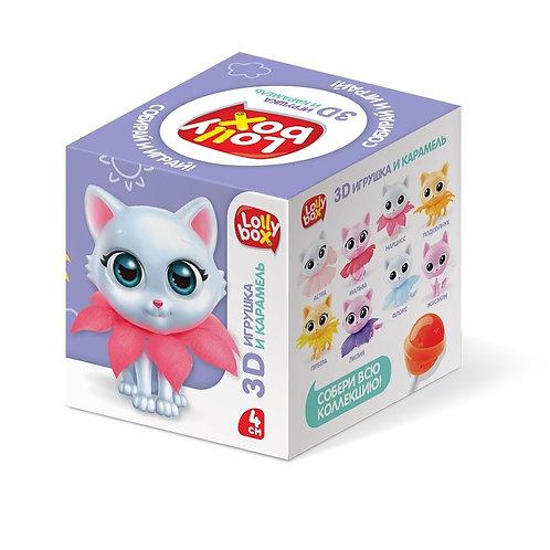 LOLLY BOX КотоСад Карамель на палочке с игрушкой в коробочке