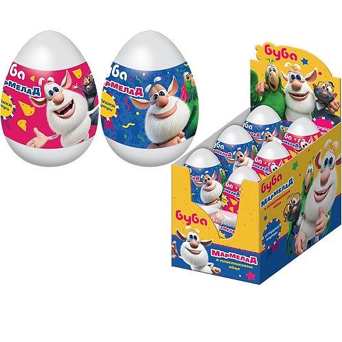 """""""БУБА"""" Мармелад в пластиковом яйце с игрушкой"""