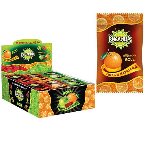 Кислица, кислый мармелад (ролл) ассорти вкусов (апельсин, вишня, яблоко)