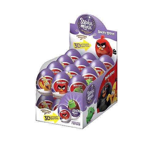 """""""ШОКИ-ТОКИ """"ANGRY BIRDS"""" Шоколадное яйцо с игрушкой"""