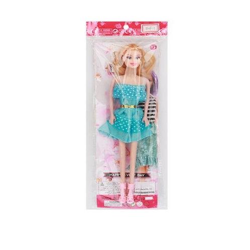 """Кукла 11,5"""" литая в ассортименте на цветной подложке в пакете"""