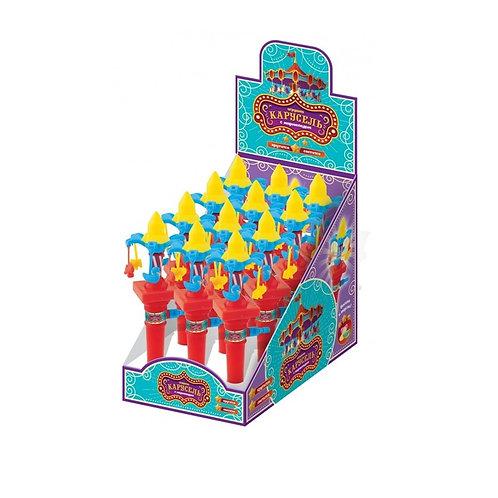 Мармелад жевательный в сахарной глазури с игрушкой Карусель