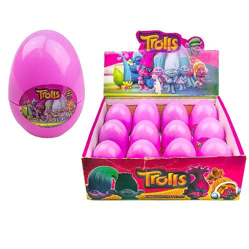 Тролли пластиковое яйцо с сюрпризом