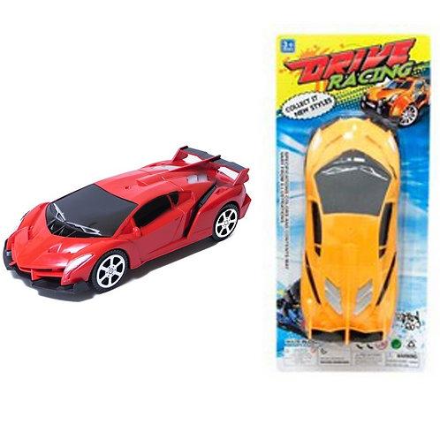 Машина инерционная Bugatti цветная на картоне