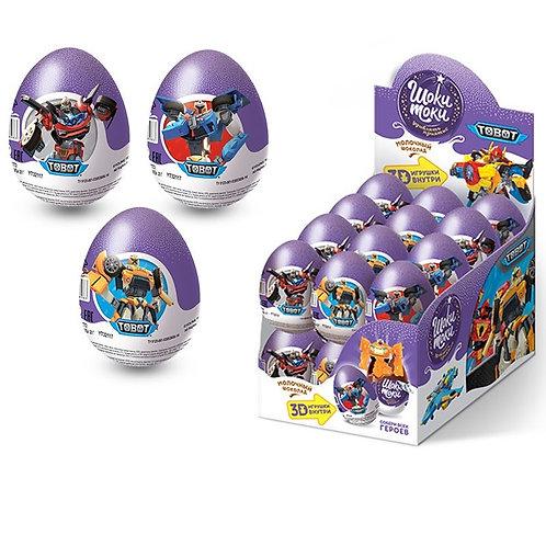"""ШОКИ-ТОКИ """"TOBOT"""" Шоколадное яйцо с игрушкой"""