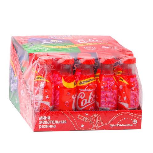 Мини жевательная резинка в бутылочках. Ассорти