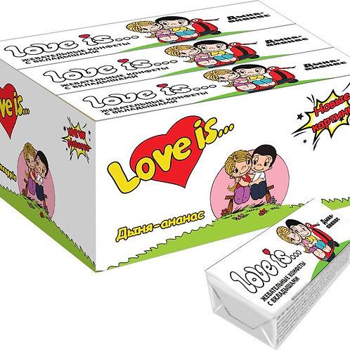LOVE IS жевательные конфеты со вкусом Дыня-ананас