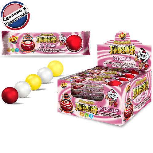 Многослойная конфета с надувной резинкой JAWBREAKER Зубодробилка Ice Cream