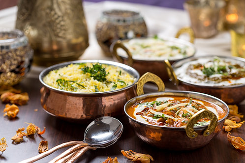 4-Course Dinner with Wine for Two at Zinger Taj Indian Restaurant McMahons Point