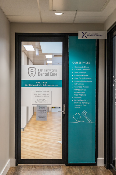 East Tamworth Dental Care main entrance.