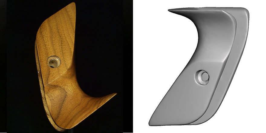 Bow handle-3D-scan with OpenScan Pi-comb