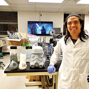 As a graduate student from Chicago, pursuing a masters in Biology, this unfortunate situation has allowed me to utilize my knowledge of Computer Aided Design to 3D print PPE for the Buffalo community. I am excited to get to lead and work with a bright bunch of dental students. My teammates and I are growing a business while continuing to learn about 3D printing and its many useful applications. We are happy to help in these unprecedented times to keep our community safe.