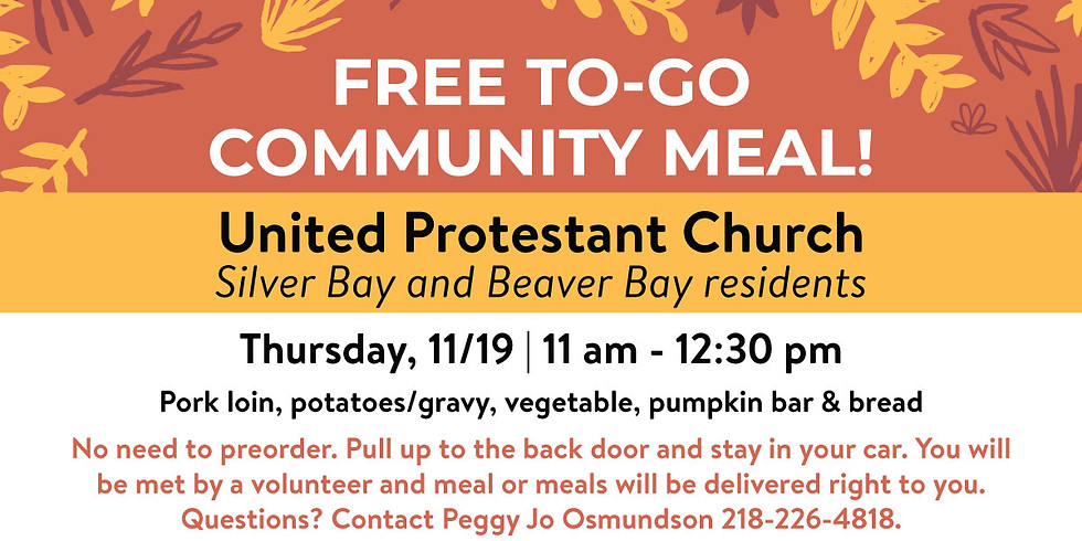 FREE To-Go Community Meal at UP Church!