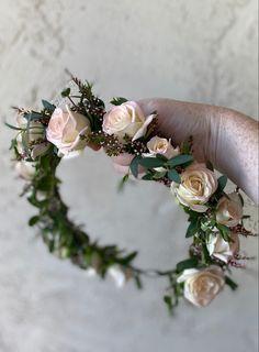 Blushing rose headress
