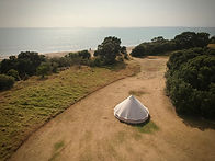 Bell tent from above