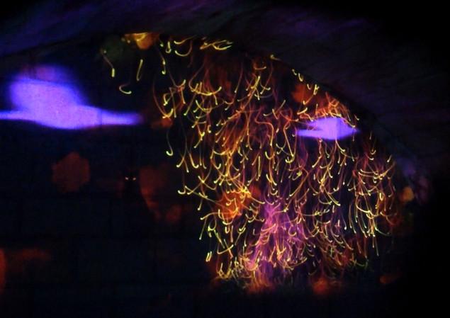 video mapping, voûte de l'abbaye