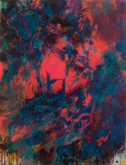 En chemin. Acrylique sur toile. 130 x 97 cm. 2021