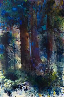 Les retrouvailles. Acrylique sur toile. 130 x 97 cm. 2019