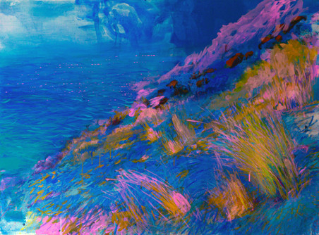 Une éternité. Acrylique sur toile. 97 x 130 cm. 2021