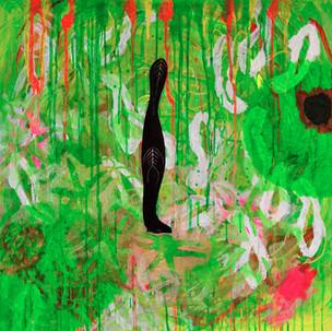 Eté d'ombre. Acrylique sur toile 80 x 80 cm. 2010