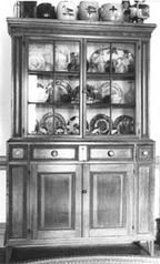 Pine cupboard, Hackensack Valley, c. 1860.