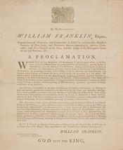 William Franklin Broadside