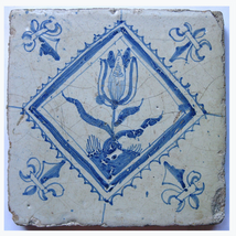 Delft Tile featuring a tulip