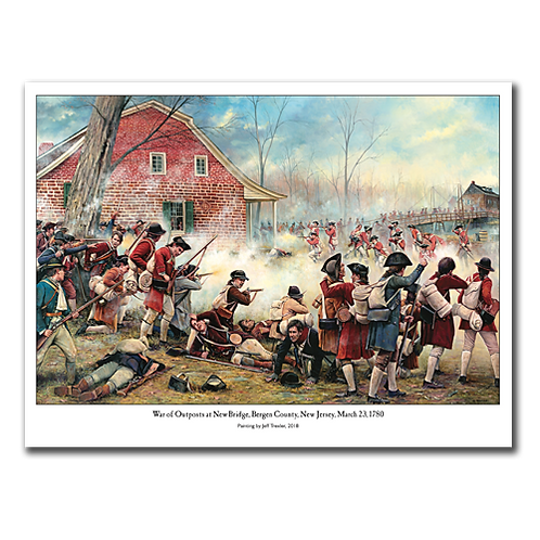 War of Outpost March 23, 1780 Painting