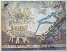 Goddess Flora or Cybele in her Chariot pulled by tigers