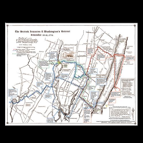 Map: The British Invasion & Washington's Retreat, November 20-21, 1776