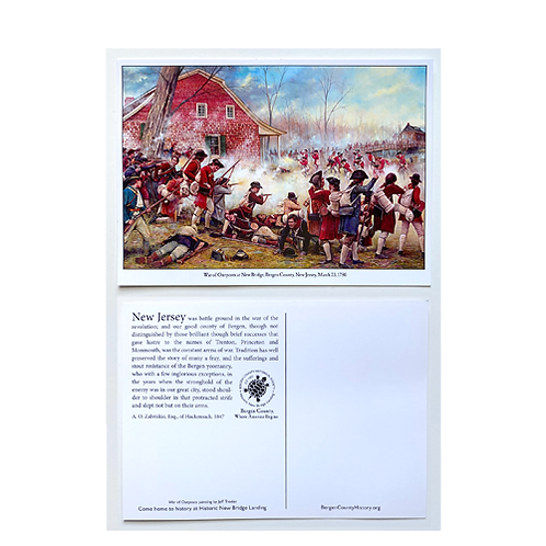 War of Outpost March 23, 1780 Post Card