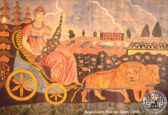 Goddess Flora or Cybele in her Chariot pulled by lions