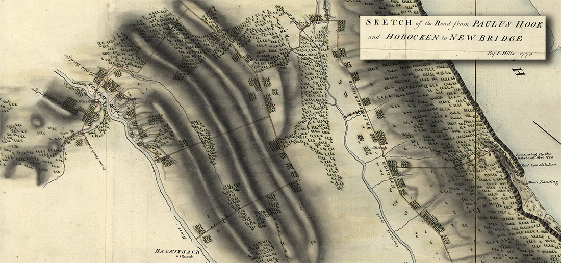 Sketch of the Road from Paulus Hook and Hoboken to New Bridge.