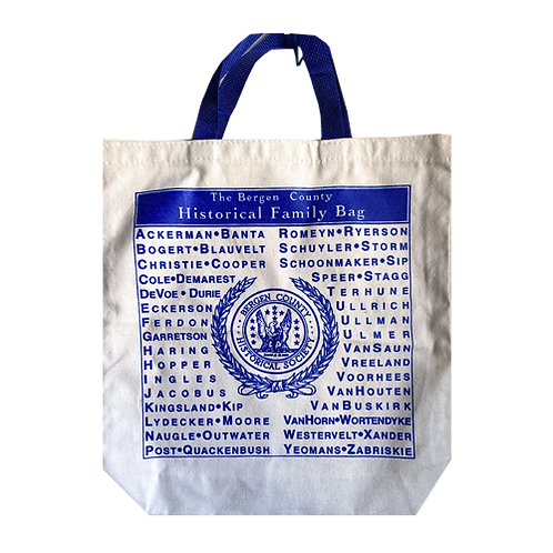 """Bergen Co. """"Families"""" Tote - Features local family names"""