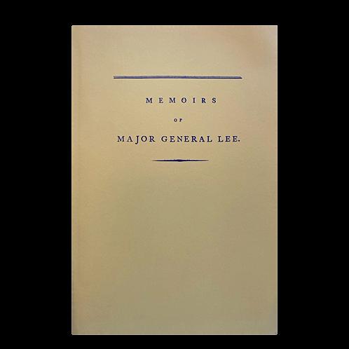 Memoirs of Major General Lee
