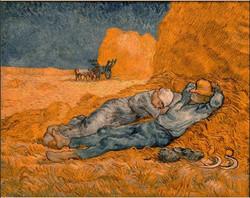 The siesta - Van Gogh Tablosu