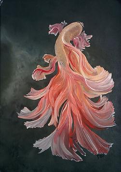 Yağlı boya beta balığı II