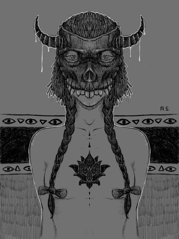 Skull Masked Woman