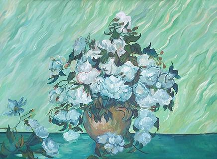 Yeni Hayat dizisi tabloları - Van Gogh Reprodüksiyon Tablo Güller