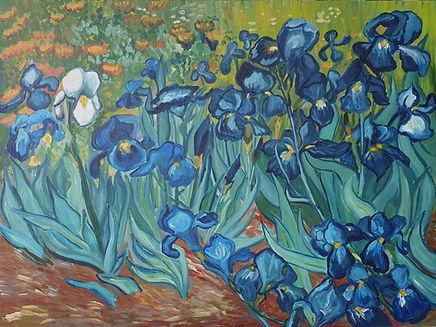 Yeni Hayat dizisi tabloları - Van Gogh Irises