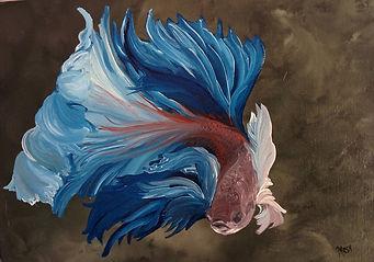 Yağlı boya beta balığı III