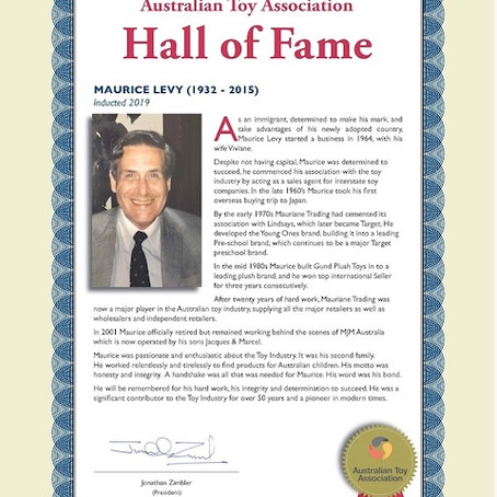Maurice Levy inducted into the ATA Hall of Fame