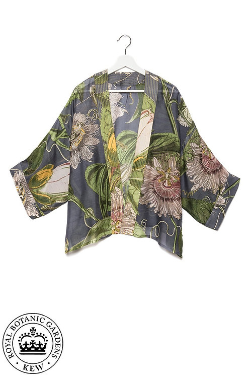 One Hundred Stars Grey Passion Fruit Mini Kimono.