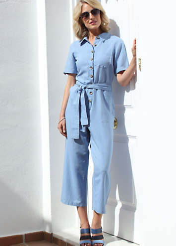 Pomodoro Boiler Suit in Chambray Blue